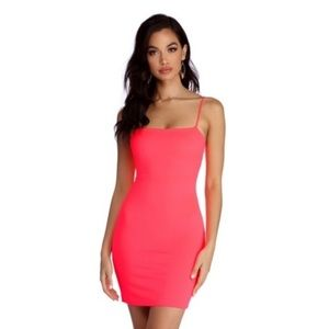 Windsor fucsia bodycon Barbie hot pink dress small